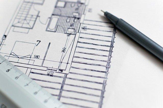 plano de obra en papel